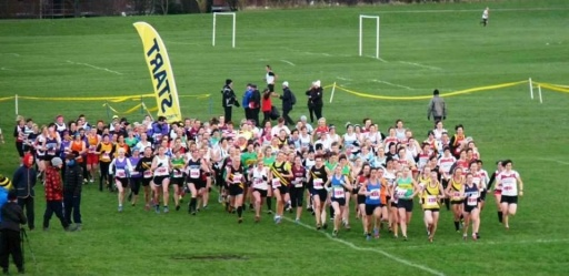 Start of the Senior Women North East Cross Country Championships 2013