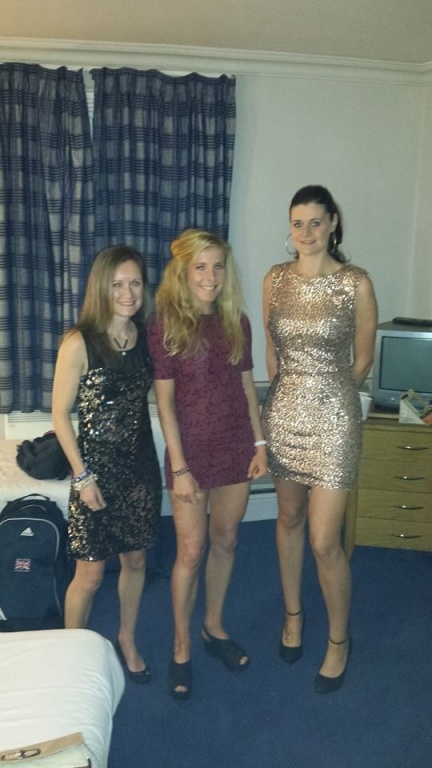 Myself and my beautiful work colleagues ready to party the night away