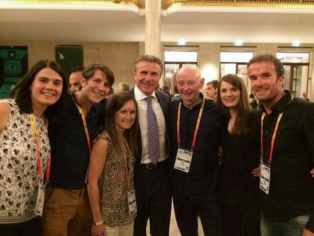 Chilling with Sergy Bubka at the post race banquet