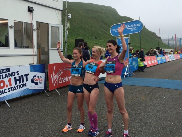 Top 3 girls at Great Edinburgh Run 2014