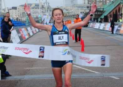 Winning Brighton 10k in a new PB of 32.35