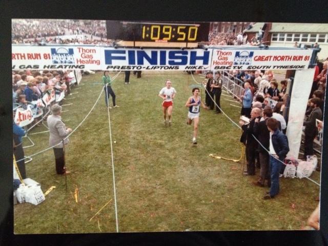 My Dad finishing the very first Great North Run