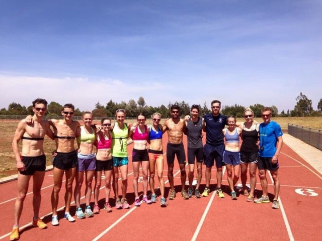 The whole gang at the end of our first track workout